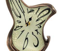 crazy clocks | Whimsical Melting Mantel Clock Bronze Finish Dali Esque | eBay