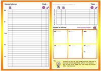 Leren is een makkie! - De Lereniseenmakkie planner, lege planner Co Teaching, Creative Teaching, Free Printable Calendar, Make Time, Templates, How To Plan, Filofax, Learning, Adhd