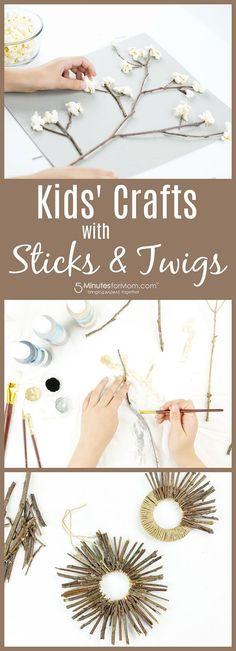 Kids Crafts with Sticks and Twigs #kidscrafts #naturecraft #ad