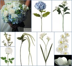 Blue and White Hydrangea Wedding Flowers ~ Natalie's Inspiration Board | Afloral.com Wedding Blog