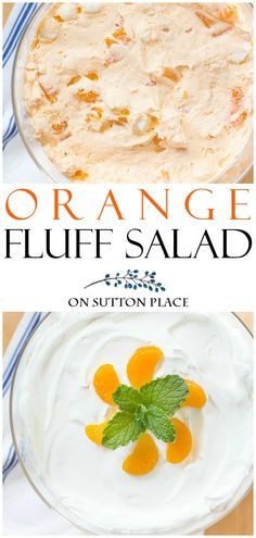 Delicious and refreshing Orange Fluff Salad Recipe that's quick & easy. An orange jello salad that can double as a dessert! Delicious and refreshing Orange Fluff Salad Recipe that's quick & easy. An orange jello salad that can double as a dessert! Fluff Desserts, Sugar Free Desserts, Köstliche Desserts, Delicious Desserts, Dessert Recipes, Luncheon Recipes, Health Desserts, Yummy Food, Orange Jello Salads