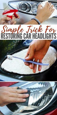 Simple Trick for Restoring Car Headlights