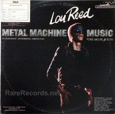 "Lou Reed - Metal Machine Music One of the oddest ""rock"" albums ever, Lou Reed's 1975 Metal Machine Music consisted of four sides of highly processed guitar feedback. The copy shown is a rare four-channel quadraphonic pressing. #albums #records #vinyl Click here to learn more about this rare record:http://www.rarerecords.net/store/lou-reed-metal-machine-music-rare-1975-quadraphonic-2-lp-set/"
