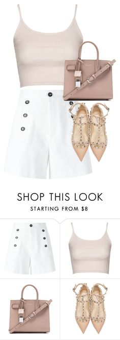 """Untitled #2785"" by elenaday ❤ liked on Polyvore featuring Étoile Isabel Marant, Topshop, Yves Saint Laurent and Valentino"