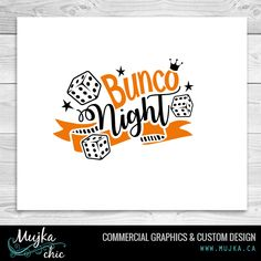 BUNCO-NIGHT-LETTERING-WORD-ART Word Art, Custom Design, Calligraphy, Graphics, Lettering, Embroidery, Night, Words, Needlepoint