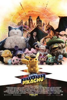 The early reactions for Detective Pikachu assure it's as adorable, heartwarming and full of Pokemon as you could possibly want. Pikachu Pikachu, Live Action, Detective, Pokemon Movies, Crime, Secret Life Of Pets, Mystery, New Pokemon, Streaming Vf