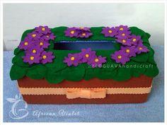 African Violet Tissue Box
