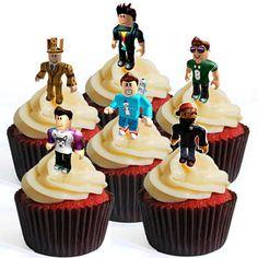 Birthday cake boys cupcake toppers 16 new ideas Roblox Birthday Cake, Roblox Cake, Birthday Cakes For Women, Cakes For Boys, Birthday Dinners, Birthday Parties, Frozen Cupcake Toppers, Cupcake Images, Minecraft Cake