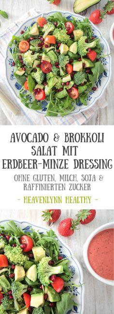 Avocado-Brokkoli-Salat-mit-Erdbeer-Minze-Dressing