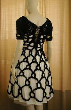 Crochetmestres by Josep Mestres 'Airstream Dress' 2010 back