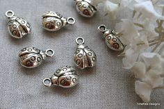 6 3D Tibetan Silver Lady Bug Charms/Pendants by VJsBeadsnNeeds on Etsy https://www.etsy.com/listing/103274833/6-3d-tibetan-silver-lady-bug