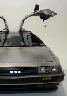 1982 DeLorean DMC 12 in Silver... definitely an eye-catcher and definitely built for speed.