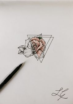 so i decided on my tattoo - i turned 18 last week and i want to get one. i've decided on this but the pink it going to be my birthstone colour of aquarius, which is a pale blue #TattooIdeasDibujos #TattooIdeasSimple
