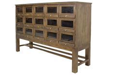 Shoe display furniture. Retail furniture pieces with vintage aesthetics.