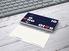 Greeting card : Egy tárgyalás vagy egy interjú után fontosnak tartjuk, hogy személyes üzenettel tegyük szebbé a másik napját :) Ennek a kis névjegykártyának a hátuljára szoktuk felírni rövid gondolatainkat :) #randstad #randstadhu #greeting #card #withcompliments #mockup #graphic #design #stylish