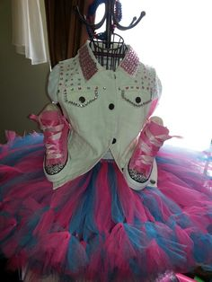 Bedazzled vest & sneakers, with tutu Designed by: Danika Vaughn