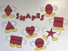 Mickey Mouse Shapes Preschool Kindergarten Classroom Decoration Disney by MsKarensKrafts on Etsy