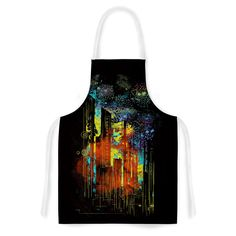 Kess InHouse Frederic Levy-Hadida 'Starry City Lights' Artistic Apron