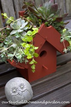 DIY ~ Easy Greenroof Birdhouses