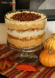 Pumpkin Maple Trifle  from Lick The Bowl Good - I'm going to figure out how to make it minus any refined sugar.