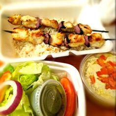 レシピとお料理がひらめくSnapDish - 18件のもぐもぐ - Chicken Kabob with baba ganoush and salad by Juliee ~ ジュリー