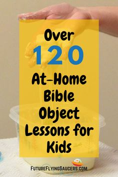 These simple Bible object lessons will help you to engage children ages K through grade and help them grow spiritually. Chronological Bible Teaching for kids! Preschool Bible Lessons, Bible Object Lessons, Bible Study For Kids, Bible Lessons For Kids, Kids Bible Activities, Youth Lessons, Church Activities, Indoor Activities, Summer Activities