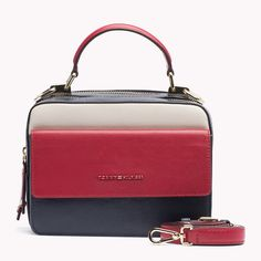 Leather Fine-Textured Tommy Hilfiger Leather Trunk Bag.