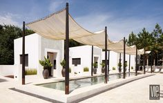 The private cabanas at Caliza Pool in Alys Beach Florida oasis tranquil