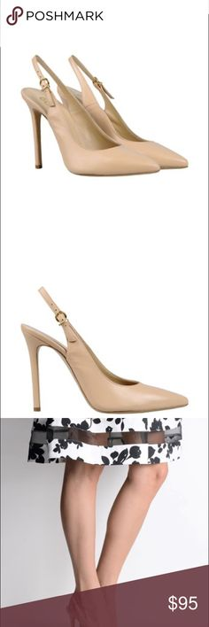 """NWT beige pumps size 9 Brand new beige pumps from Italian brand """"8"""". 100% Nappa leather,spike heels and sling-backs for a super comfortable fit. A must for any wardrobe! Shoes Heels"""