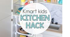 Kmart is THE place to shop these days. They've got all the things you've ever wanted, and all the things you need but didn't know you needed. Earlier this year, I shared how I hacked their train table. Today I'd like to share our latest hack. Our Kmart kitchen hack! Now we already had a …