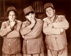 """The Three Stooges were an American vaudeville and comedy act. Commonly known by their first names """"Moe, Larry, and Curly"""".   Larry Fine, Moe Howard, (and brother) Curly Howard."""