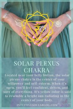 List of Psychic Definitions for Newbies Your solar plexus chakra is the energy center that rules your willpower and self-esteem. Yep, pretty important :] Learn more awesome chakra and psychic development stuff at intuitivesoulsblo… Qi Gong, Auras, Pranayama, Third Eye, Ayurveda, 3 Chakra, Heart Chakra, Reiki Energy, Solar Energy
