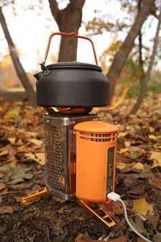 The BioLight CampStove burns twigs and recharges your gadgets by converting the heat, from the fire, into usable electricity.