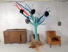 Ideas Hat Rack Ideas Hooks Tree Branches For 2019 Diy Hat Rack, Hat Hanger, Hat Racks, Wood Hooks, Diy Hooks, Cowboy Hat Rack, Diy Home Decor Projects, Pallet Projects, Decor Ideas