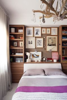 Bulletin board as head board - I love this idea, especially because I've struggled to find a headboard that I actually want to commit to.