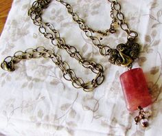 vintage and cherry quartz. ($37.50, but GypsyLamb on Etsy has a 25% off sale in April!)