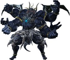 """XIV Sephirot, the Fiend (魔神セフィロト, Majin Sefiroto?, lit. Devil Sephirot) is a primal from Final Fantasy XIV, who appears in version 3.2, """"The Gears of Change"""". He is one of the Warring Triad."""