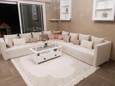 Moroccan living room Modern New design Living Room New Design, Bedroom Tv Unit Design, Lcd Unit Design, Living Room Tv, Living Room Modern, Bedroom Tv Stand, Tv In Bedroom, Moroccan Lounge, Modern Moroccan