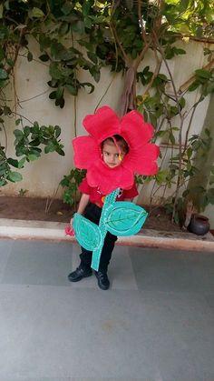 Kid as flower School Uniform, Projects For Kids, Fancy Dress, Crochet Hats, Concept, Costumes, Fruit, Learning, Flowers
