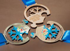 Medal puzzle - the Olympics school in Zakopane. made of materials combined with color printing.