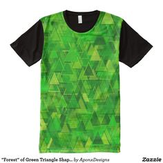 """""""Forest"""" of Green Triangle Shapes Pattern Triangle Shape, Shape Patterns, Printed Shirts, Shirt Style, Your Style, Shirt Designs, Shapes, Tank Tops, Green"""