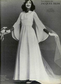 JACQUES HEIM 1976 wedding dress