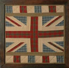 Quilted Union Flag made of tartan fabrics - It looks nice, but I'm trying REALLY hard not to overthink this right now!