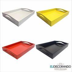 Bandeja Tray! Com quatro opções de cores maravilhosas! Acesse www.eudecorando.com.br