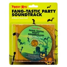 Don't forget the music for your Halloween party with this fang-tastic CD! 60 minutes of spooky sounds, perfect for continuous play during your party.