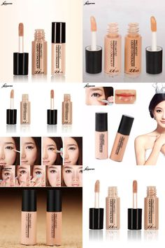 [Visit to Buy] LEARNEVER Hide Blemish Cream Concealer Stick Cover Dark Eye Circle Makeup Face Foundation Liquid Brush Rotary Concealer  #Advertisement