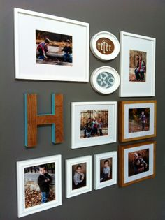 love this small gallery wall! so inspiring