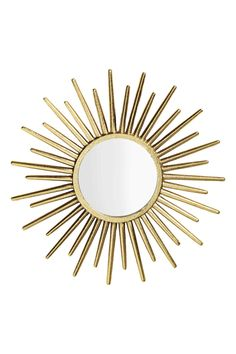 Round mirror - Gold - Home All | H&M