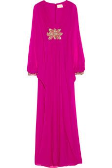 Marchesa Embellished silk-chiffon gown | NET-A-PORTER