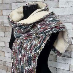 Start loving winter, this artificial fur and wool scarf will make you warm and trendy... Each with unique color combination, handmade, size apx 140*16*1cm, warm and soft